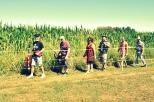 Foto alla Cascina Poglianasca di Arluno con le asine di Passi e Crinali